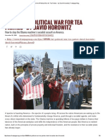 The Art of Political War for Tea Parties - By David Horowitz _ Frontpage Mag