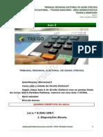 Noções de Dir Eleitoral - Técnico - Área Adm - Aula 06