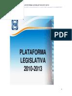 PLATAFORMA-LEGISLATIVA 2010 - 2013