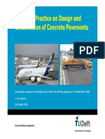 European Practice on Design&Construction of Concrete Pavements-