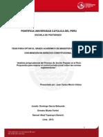 Análisis Jurisprudencial Del Proceso de AP (Conclusiones Tesis)-Moron Urbina