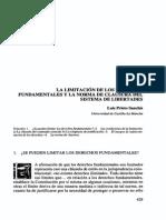 La Limitacion de Los Derechos Fundamentales y La Norma de Clausura Em El Sistema de Libertades-Sanchis