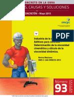 Aditivos Para Concreto Determinación de La Viscosidad Cinemática y Cálculo de La Viscosidad Dinámica NMX-C-240-OnNCCE-2013