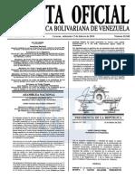 Sumario Gaceta Oficial 39.368