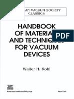 Andbook of Materials & Techniques for Vaccum