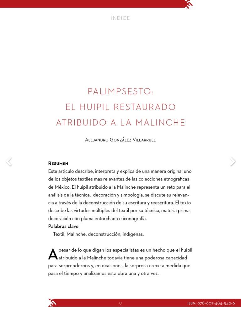 Huipil Restaurado de Malinche