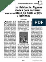Servicios bibliotecarios para gays y lesbianas