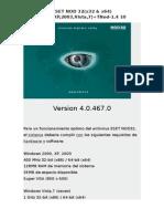 ESET NOD 32(4.0.467.0)(x32 & x64)(2000,XP,2003,Vista,7)+TNod-1.4 10
