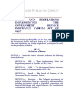 Rules and Regulations Implementing the Government Service Insurance System Act of 1997