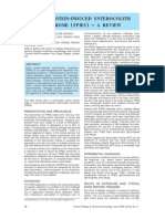 Food Protein Induced Enterocolitis