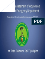 Principle Management of Wound and Fracture in Ed Dr Tedjo
