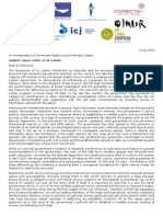 Joint Open Letter on Sri Lanka 2 July 2015