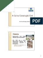 A Cal Na Construção Civil