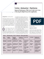 Control Valve Actuator Options