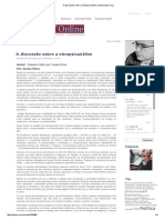 A Discussão Sobre a Etnopsicanálise _ Josias Pires