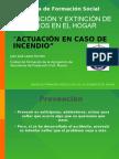 PREVENCIÓN Y EXTINCIÓN DE INCENDIOS EN EL HOGAR