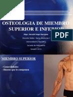 Osteología de Miembro Superior e Inferior