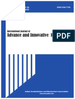International Journal of Advance & Innovative Research Volume 2, Issue 1(I) January - March 2015 - New ISSN
