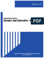 International Journal of Advance & Innovative Research Volume 2, Issue 2 (I) - April to June 2015 ISSN