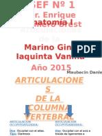 Tp1 - Articulaciones La Columna Vertebral - Anatomia.ppsx