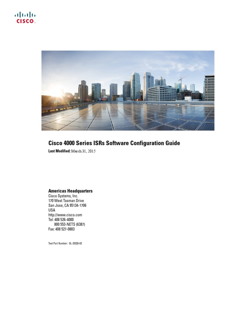 Cisco isr4400 series Software Installation Guide | Command