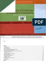 Inversion Publica y Privada Bajo El Estudio de La Econometria