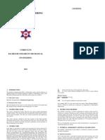 B.E. Mechanical Curriculum 2014