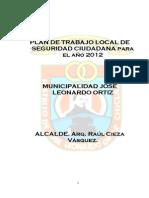 Plan Seguridad Ciudadana 2012