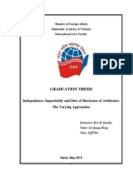 Le Quang Hung - Graduation Thesis Independence, Impartiality and Duty of Disclosure of Arbitrator