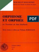 Bremmer J. N. 1991 Orpheus. From Guru to Gay, (w) P. Borgeaud (Ed.), Orphee ... J. Rudhardt