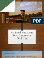 No Load and Load Test Generator Sinkron