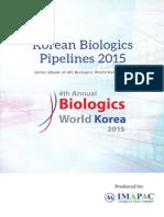 Korean Biologics Pipeline 2015