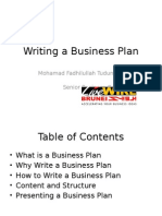 Writing a Business Plan 20130314