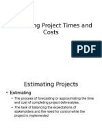 Estimating Project