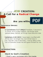 the new creation a call for radical change