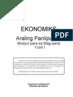 Ekonomiks LM - Yunit 1
