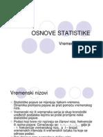 Osnove Statistike - Vremenski Nizovi