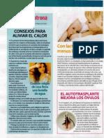 Consejos para embarazadas para aliviar el calor en verano