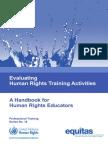 UN Human Rights Evaluation Handbook