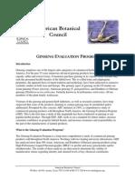 Ginseng Evaluation Program