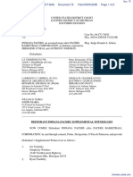 Haddad v. Indiana Pacers et al - Document No. 75
