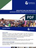 Asistencias Tecnicas SENEGAL - Arquitectura Sin Fronteras - España