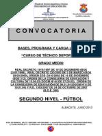 Curso de Tecnico Deportivo Nivel II Futbol