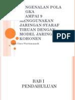 Pengenalan Pola Angka Menggunakan Jaringan Syaraf Tiruan Model Jaringan Kohonen