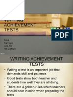 Presentation Achvement Test