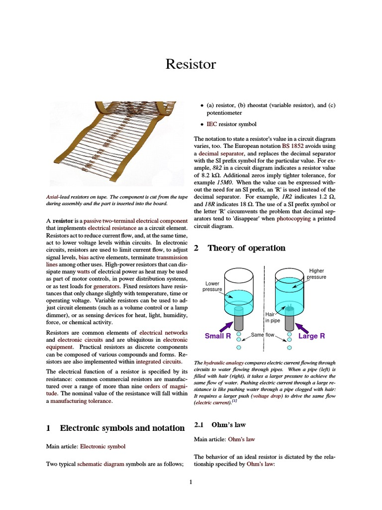 Resistor | Resistor | Electrical Resistance And Conductance