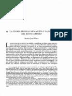 La Teoría Musical Humanista y La Poética en El Renacimiento (Maria José Vega)