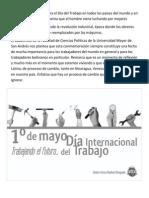 Cada 1 de Mayo Se Celebra El Día Del Trabajo en Todos Los Países Del Mundo y en Bolivia
