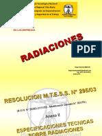 HUGO MARTIN ATOMICA CORDOBA RADIACIONES UTN VILLA MARIA 2015 RESOLUCION MTESS 295/03