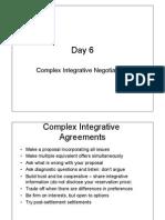Complex Integrative Negotiations